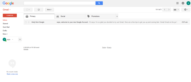 Dasboard Gmail