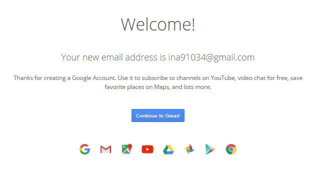 Sambutan dari google mail